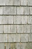 Faded Old Weathered Wooden Shingles Stock Photo