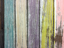 Faded paint on barn wood. Faded paint on old barn wood for shabby chic effect royalty free stock photo