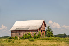 Faded Red Barn Royalty Free Stock Photo