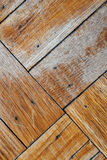 Faded, Scuffed Wood Floor Royalty Free Stock Images