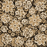 Faded Sepia Floral Pattern Stock Image