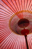 Faded Shade. A faded Japanese paper umbrella royalty free stock image