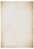 Faded sheet of old white paper Stock Photo