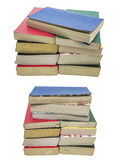 Faded soft cover books collage isolated background Royalty Free Stock Photos