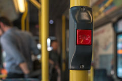 Faded Stop Button. Faded Stop Ring Button in Bus royalty free stock image
