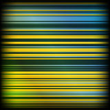 Faded Stripes. Abstract vector background with yellow and blue stripes, faded on sides Vector Illustration