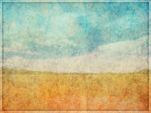 Faded Textured Abstract Landscape Background Royalty Free Stock Photography
