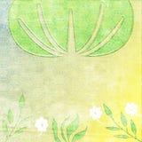 Faded Tree Cloud w/flowers royalty free illustration