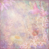 Faded vintage floral background with Australian flora Stock Photo