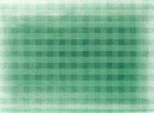 Green chequered fabric background Royalty Free Stock Photos