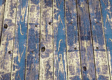 Faded wooden blue paint. Close up of faded wooden blue paint Stock Photo