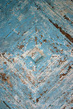 Faded wooden floor. Old wooden painted floor as a  background Stock Photo