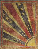 Faded and Worn Grunge American Stars and Stripes Background Stock Photo