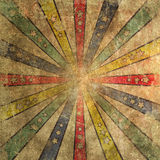 Faded and Worn Grunge Ray Star Burst Backgroung Tile Royalty Free Stock Images
