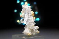 Fadenkwarts Crystal Mineral Specimen stock afbeeldingen