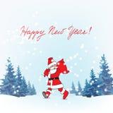 Fader Christmas Santa Claus vektor illustrationer