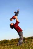Fader Lifting Son Fotografering för Bildbyråer