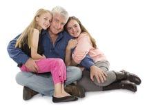 Fader med döttrar Royaltyfri Bild