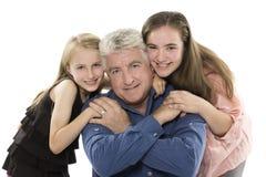 Fader med döttrar Royaltyfria Foton