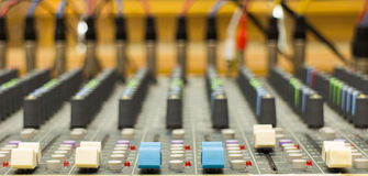 Fader mixer Royalty Free Stock Images