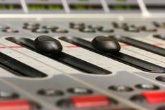 Fader no console digital da mistura Imagens de Stock Royalty Free