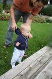 Fader och barn Arkivfoto