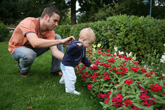 Fader och barn Arkivfoton