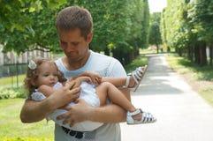 Fader och dotter Royaltyfri Foto