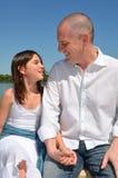 Fader och dotter Royaltyfria Foton