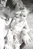 Fader och dotter Arkivbilder