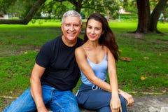 Fader och dotter Arkivfoto
