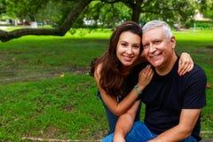 Fader och dotter Arkivfoton