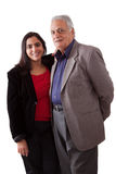 Fader och dotter för östlig indier Royaltyfri Bild