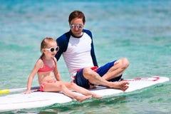Fader och dotter på semester Royaltyfri Bild