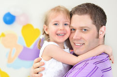 Fader och dotter Royaltyfri Fotografi
