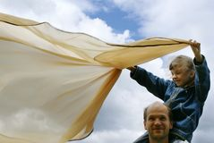 Fader och dottern fotografering för bildbyråer