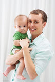 Fader och hans son royaltyfri fotografi