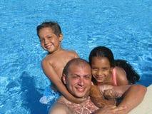 Fader och hans ungar Royaltyfria Foton