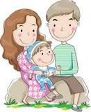 Fader och moder och son Fotografering för Bildbyråer