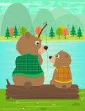 Fader- och sonögonblick stock illustrationer