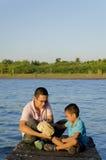 Fader och Son Arkivfoto