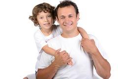 Fader och son Royaltyfri Foto