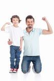 Fader och son Arkivbild