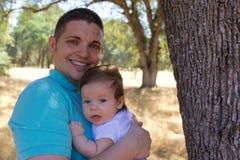 Fader och son Fotografering för Bildbyråer