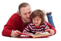 Fader- och sonläsning Royaltyfri Foto