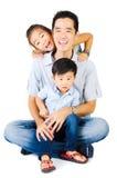 Fader och ungar Arkivbilder