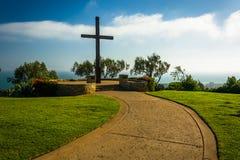 Fader Serra Cross, på Grant Park, i Ventura, Kalifornien Arkivbild