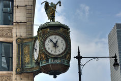 Fader Time Clock - Chicago Royaltyfri Fotografi