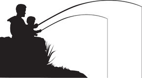 faderfiskson stock illustrationer