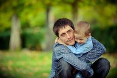 Fadern och sonen Arkivfoto